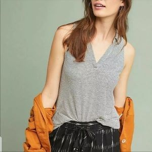 Anthropologie Maeve Carolina Striped Colliers Top